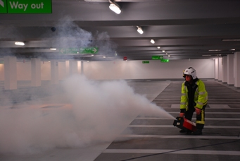 Smoke control system tests at Paradise Street, Liverpool
