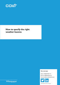 how to specify the right weather louvres whitepaper 1