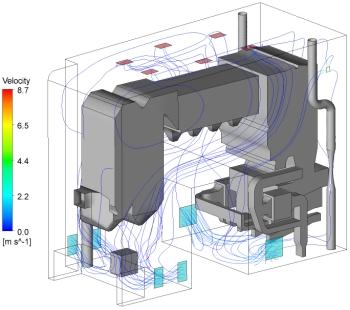CFD Velocity diagram
