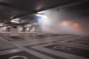 Smoke test at Paradise Street car park